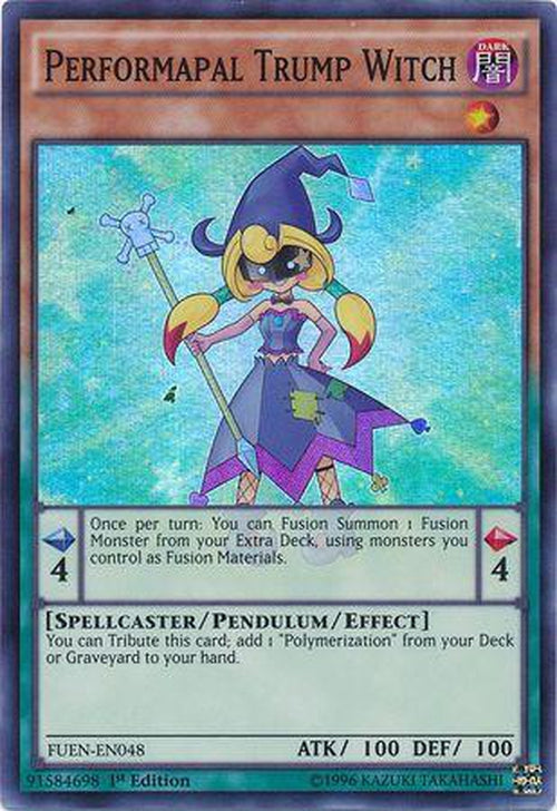 Performapal Trump Witch - FUEN-EN048 - Super Rare 1st Edition-Cherry Collectables