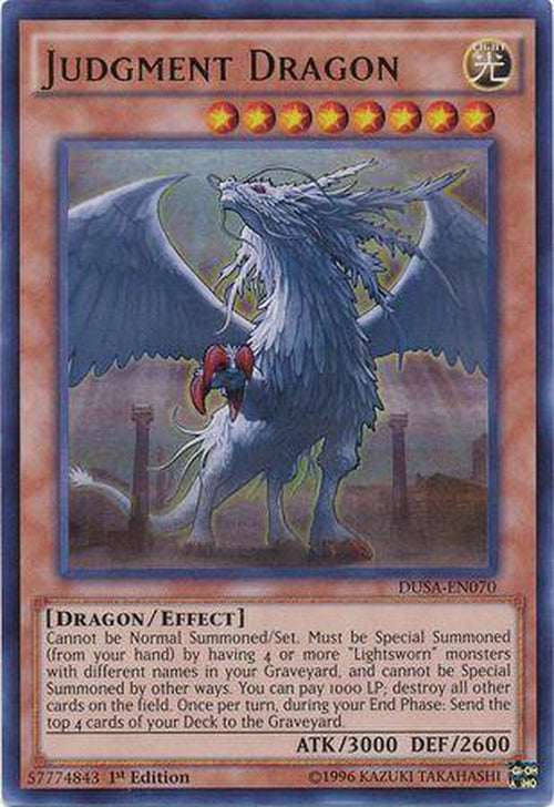 Judgment Dragon - DUSA-EN070 - Ultra Rare 1st Edition-Cherry Collectables