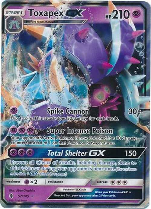Toxapex GX - 57/145 - Ultra Rare - Guardians Rising-Cherry Collectables