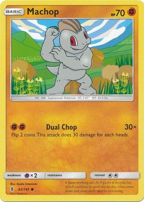Machop - 62/145 - Common-Cherry Collectables