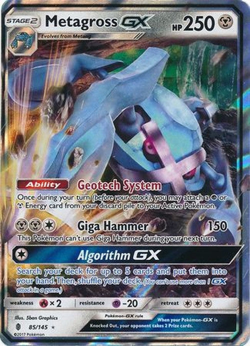 Metagross GX - 85/145 - Ultra Rare - Guardians Rising-Cherry Collectables