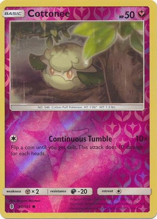 Cottonee - 90/145 - Common Reverse Holo-Cherry Collectables