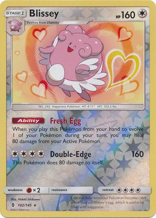 Blissey - 102/145 - Holo Rare Reverse Holo-Cherry Collectables