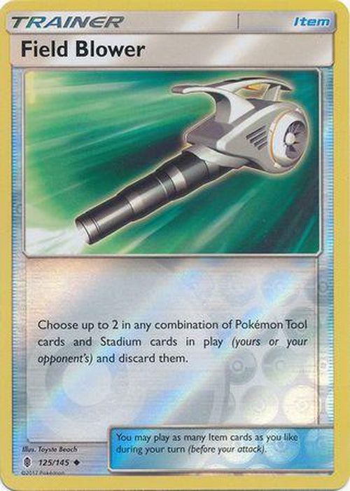 4x Field Blower - 125/145 - Uncommon Reverse Holo Playset (4)-Cherry Collectables