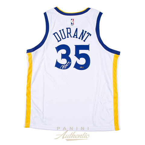 Kevin Durant Panini Authentic Autographed White Nike Swingman Jersey-Cherry Collectables