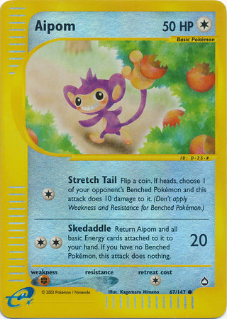 Aipom - 67/147 - Common Reverse Holo-Cherry Collectables