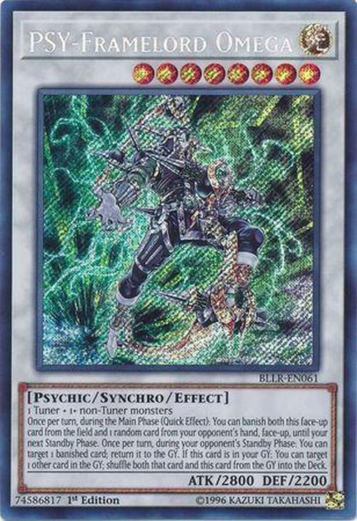 PSY-Framelord Omega - BLLR-EN061 - Secret Rare 1st Edition-Cherry Collectables