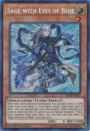 Sage with Eyes of Blue - BLLR-EN055 - Secret Rare 1st Edition-Cherry Collectables