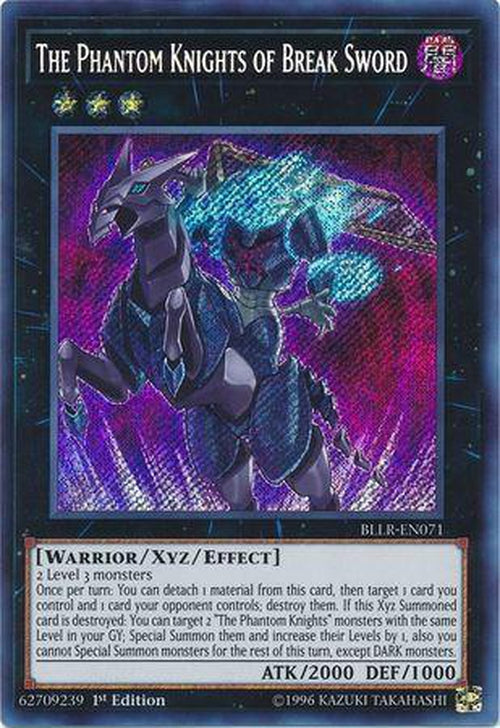 The Phantom Knights of Break Sword - BLLR-EN071 - Secret Rare 1st Edition-Cherry Collectables