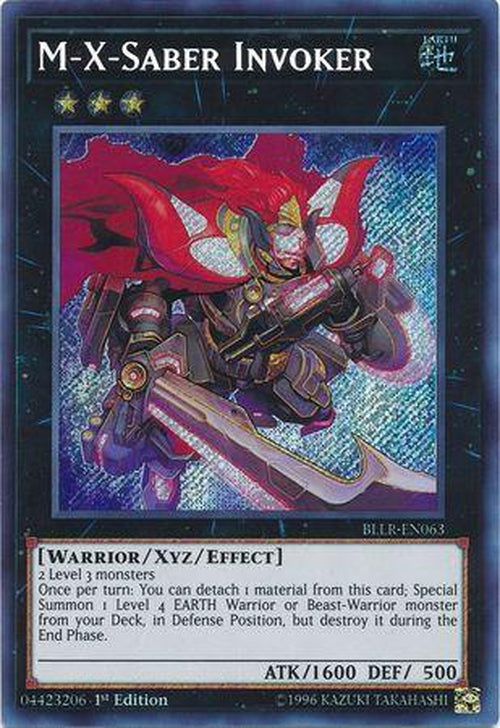 M-X-Saber Invoker - BLLR-EN063 - Secret Rare 1st Edition-Cherry Collectables