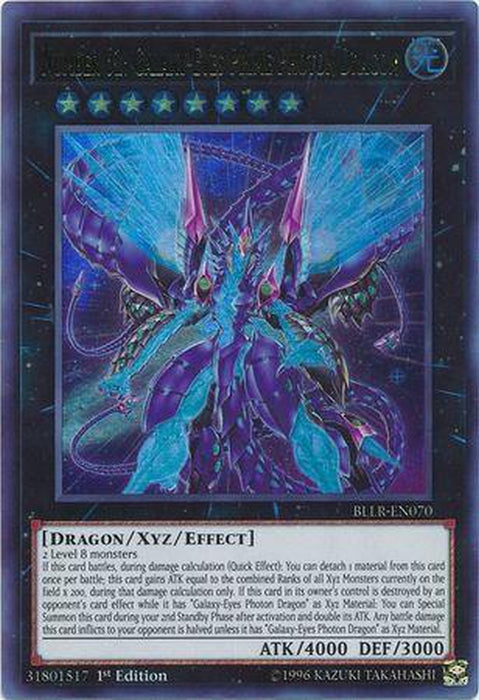 Number 62 Galaxy-Eyes Prime Photon Dragon - BLLR-EN070 - Ultra Rare 1st Edition-Cherry Collectables