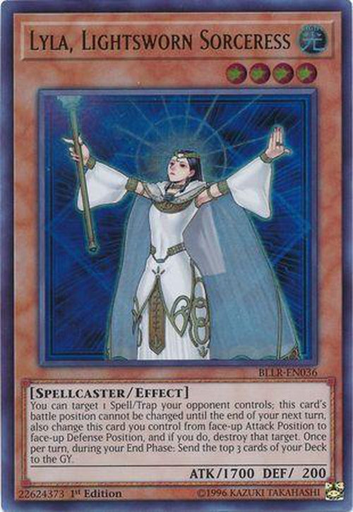 Lyla Lightsworn Sorceress - BLLR-EN036 - Ultra Rare 1st Edition-Cherry Collectables
