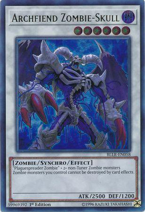 Archfiend Zombie-Skull - BLLR-EN058 - Ultra Rare 1st Edition-Cherry Collectables