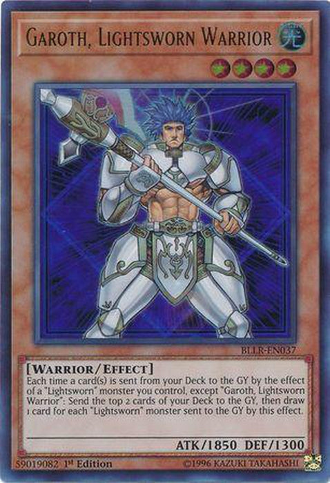 Garoth Lightsworn Warrior - BLLR-EN037 - Ultra Rare 1st Edition-Cherry Collectables