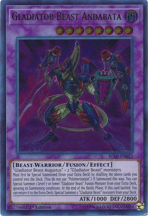 Gladiator Beast Andabata - BLLR-EN022 - Ultra Rare 1st Edition-Cherry Collectables