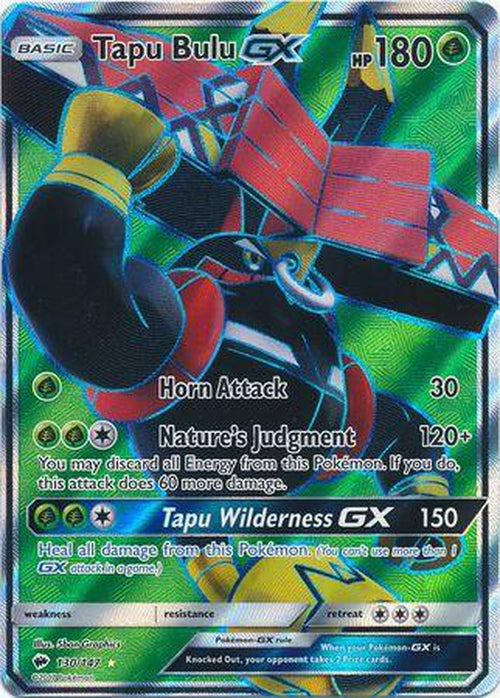 Tapu Bulu GX - 130/147 - Full Art Ultra Rare - Burning Shadows-Cherry Collectables