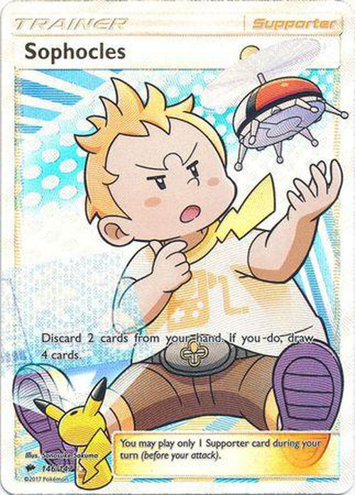 Sophocles - 146/147 - Full Art Ultra Rare - Burning Shadows-Cherry Collectables