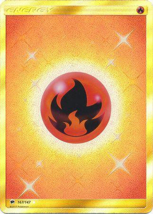 Fire Energy - 167/147 - Secret Rare-Cherry Collectables