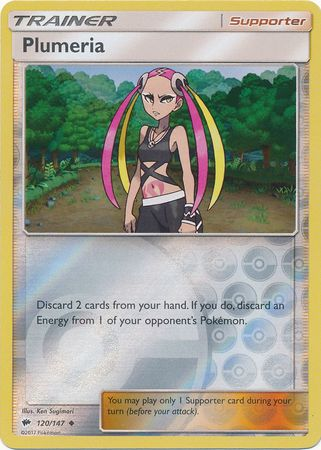 Plumeria - 120/147 - Uncommon Reverse Holo-Cherry Collectables