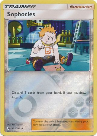 Sophocles - 123/147 - Uncommon Reverse Holo-Cherry Collectables