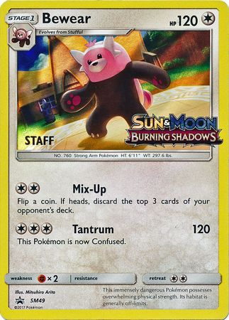 Bewear Staff Pre-release - SM49 - Holo Rare-Cherry Collectables