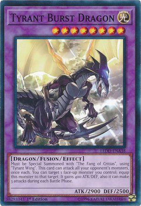 Tyrant Burst Dragon - LEDD-ENA38 - Common 1st Edition-Cherry Collectables