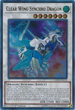 Clear Wing Synchro Dragon - LEDD-ENC29 - Ultra Rare 1st Edition-Cherry Collectables