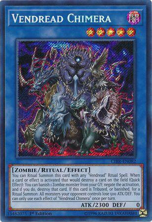 Vendread Chimera - CIBR-EN082 - Secret Rare 1st Edition-Cherry Collectables