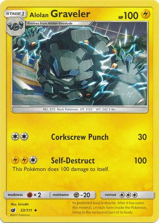 Alolan Graveler - 33/111 - Uncommon-Cherry Collectables