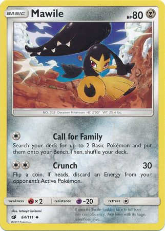 Mawile - 64/111 - Uncommon-Cherry Collectables