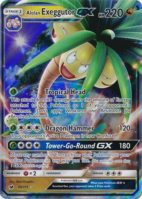 Alolan Exeggutor GX - 74/111 - Ultra Rare-Cherry Collectables