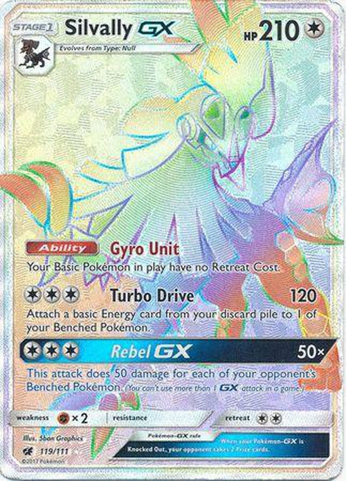 Silvally GX - 119/111 - Hyper Rare - Crimson Invasion-Cherry Collectables