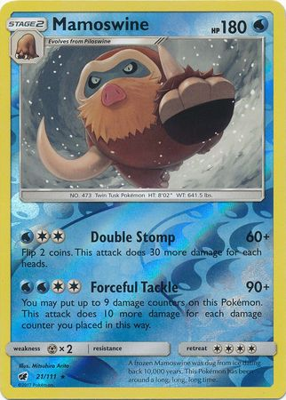 Mamoswine - 21/111 - Rare Reverse Holo-Cherry Collectables