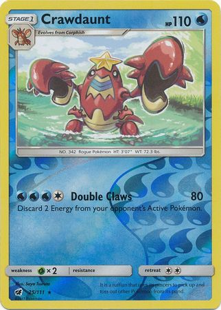 Crawdaunt - 25/111 - Rare Reverse Holo-Cherry Collectables
