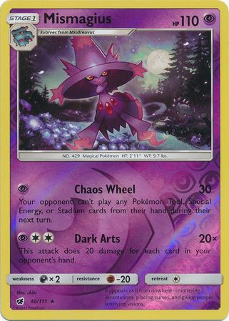 Mismagius - 40/111 - Rare Reverse Holo-Cherry Collectables