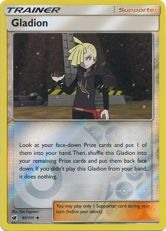 Gladion - 95/111 - Uncommon Reverse Holo-Cherry Collectables