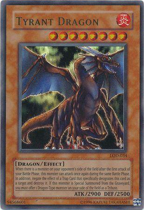 Tyrant Dragon - LOD-034 - Ultra Rare Unlimited-Cherry Collectables