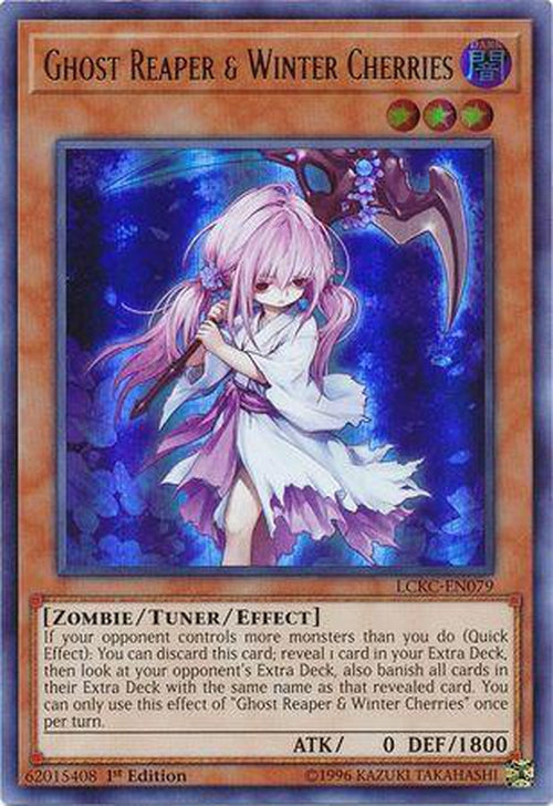 Ghost Reaper & Winter Cherries - LCKC-EN079 - Ultra Rare 1st Edition-Cherry Collectables