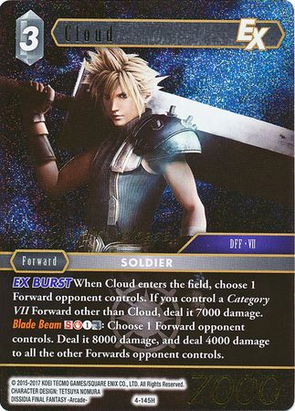 Cloud - 4-145H - Foil Opus IV Prerelease Promo Final Fantasy-Cherry Collectables