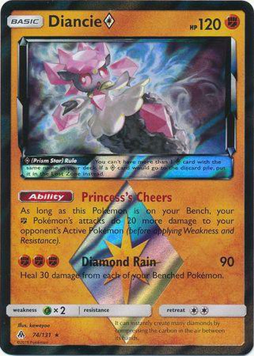 Diancie Prism Star - 74/131 - Holo Rare - Forbidden Light-Cherry Collectables