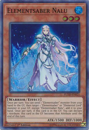 Elementsaber Nalu - FLOD-EN021 - Super Rare 1st Edition-Cherry Collectables