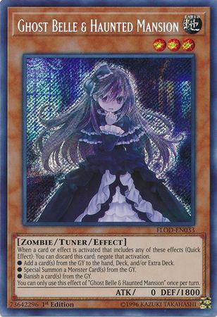 Ghost Belle & Haunted Mansion - FLOD-EN033 - Secret Rare 1st Edition-Cherry Collectables
