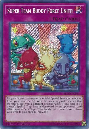 Super Team Buddy Force Unite! - FLOD-EN081 - Secret Rare 1st Edition-Cherry Collectables