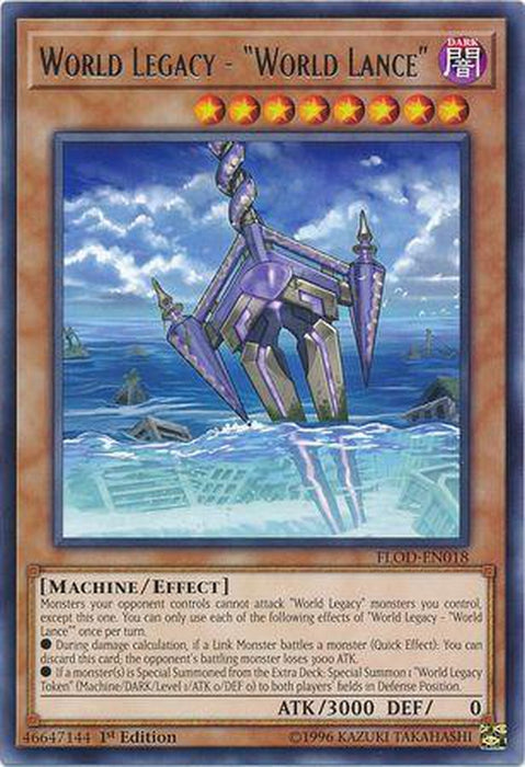 "World Legacy - ""World Lance"" - FLOD-EN018 - Rare 1st Edition-Cherry Collectables"