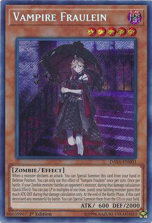 Vampire Fraulein - DASA-EN003 - Secret Rare 1st Edition-Cherry Collectables