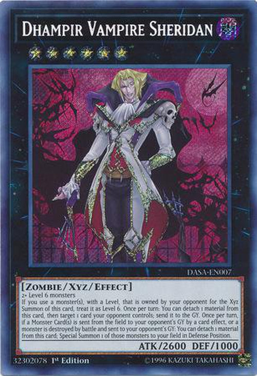 Dhampir Vampire Sheridan - DASA-EN007 - Secret Rare 1st Edition-Cherry Collectables
