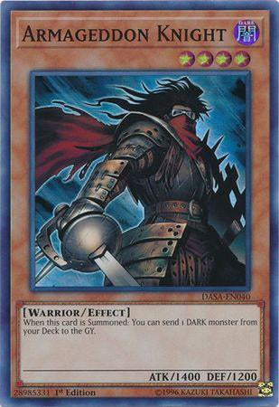 Armageddon Knight - DASA-EN040 - Super Rare 1st Edition-Cherry Collectables