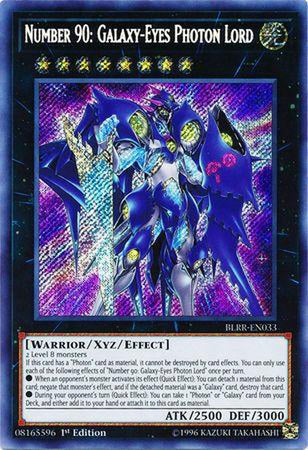 Number 90 Galaxy-Eyes Photon Lord - BLRR-EN033 - Secret Rare 1st Edition-Cherry Collectables