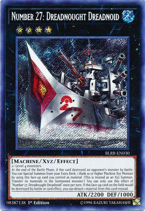 Number 27 Dreadnought Dreadnoid - BLRR-EN030 - Secret Rare 1st Edition-Cherry Collectables