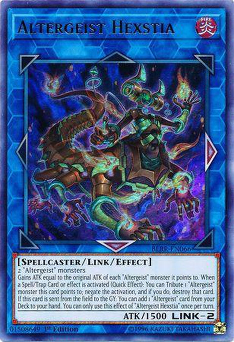 Altergeist Hexstia - BLRR-EN066 - Ultra Rare 1st Edition-Cherry Collectables